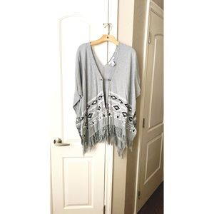 Gray baggy poncho